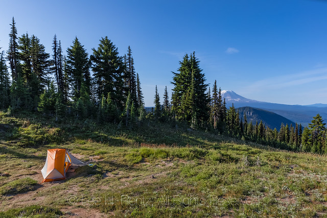 Campsite at Snowgrass Flats in the Goat Rocks Wilderness