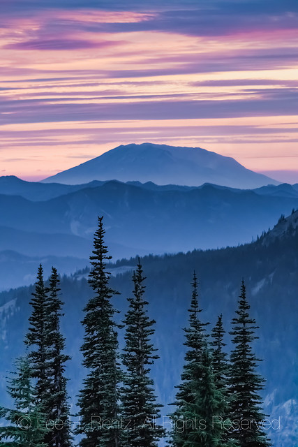 Mount St. Helens after Sunset Viewed from the Goat Rocks Wilderness