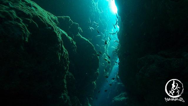 2本目は洞窟♪きれいな光が差し込んでました