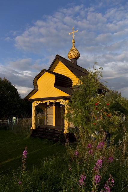 Деревня Волнаволок. Часовня Покрова Пресвятой Богородицы.