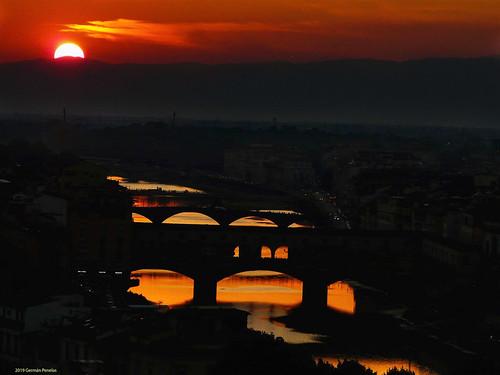 Atardecer sobre Florencia