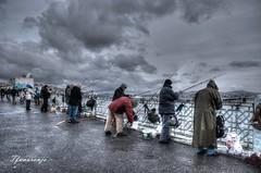 Pescadores Bósforo (Estambul)