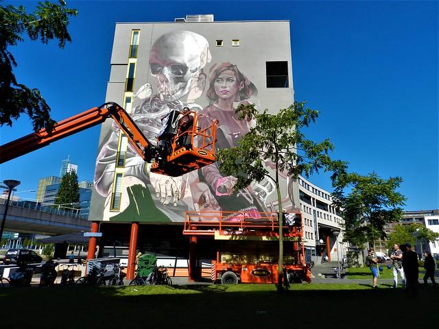 [Telmo Miel X Smug] POW! WOW! festival street art. In de Afrikaanderwijk.