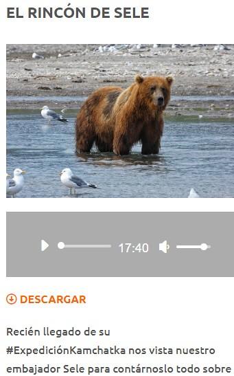 Entrevista sobre Kamchatka en Paralelo 20 de Radio Marca