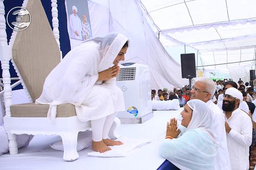 Saints seeking blessings