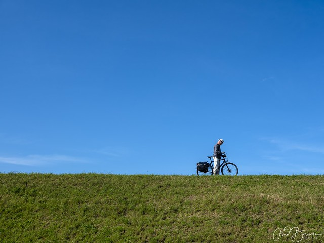 Bike on the dike