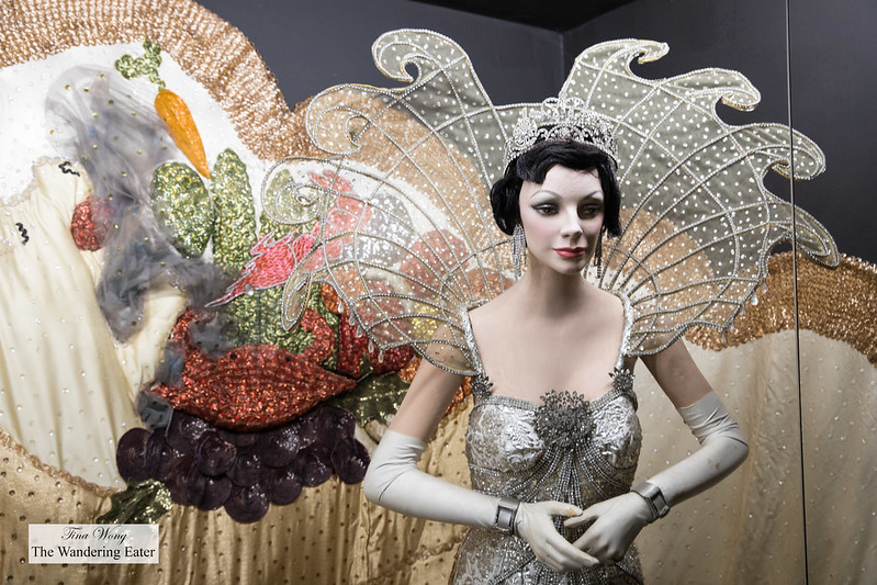 Ms. Wells' Queen of Sparta, 1963 ball gown at Germaine Wells Mardi Gras Museum