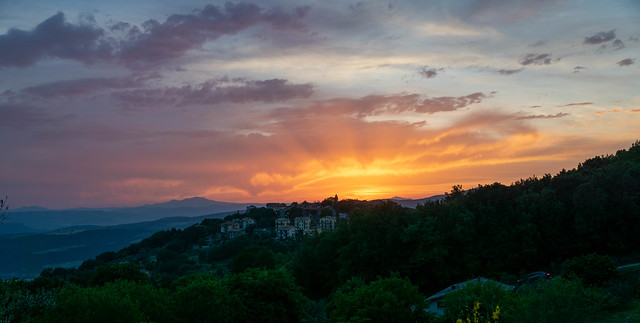 Sunset in Civitella del lago (IT)