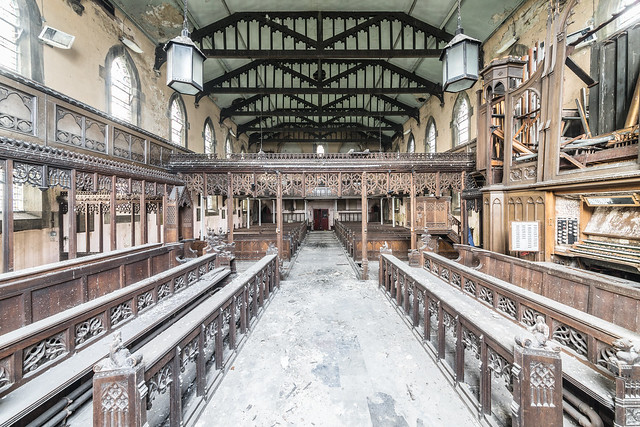 abandoned church in UK