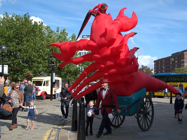 Lobster man at Albert Docks Food Festival 2019