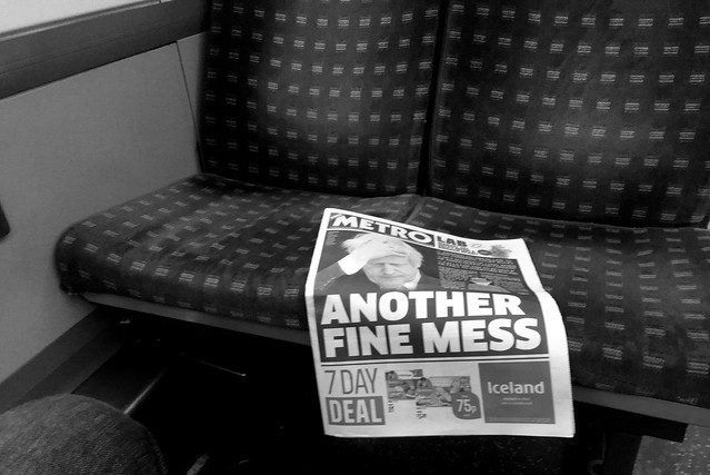 Metro: another fine mess. Newspapers on trains