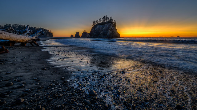 Rialto Beach Sunset Reflection