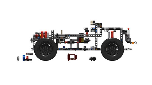 42110 Land Rover Defender chassis - WIP