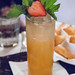 Ginger beer, clove and fruit juice mocktail