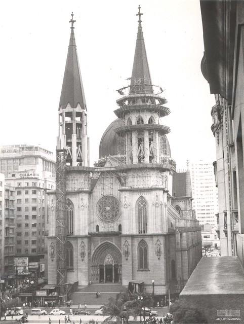 Construção da Catedral da Sé, São Paulo, anos 1960