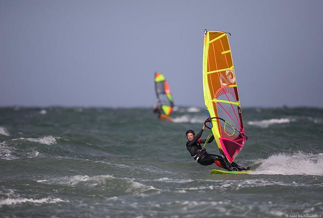 Windsurfing Udsholt Beach, Denmark
