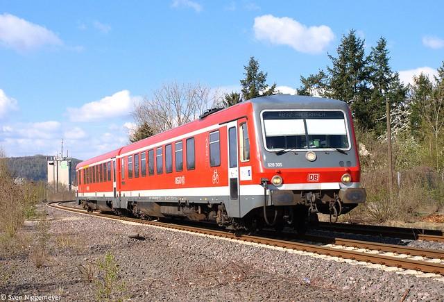 628 305 als RB92 von Kaisersesch nach Andernach bei Plaidt am 8.04.12