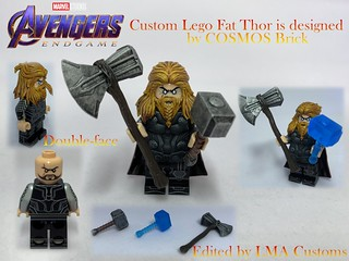 Lego Custom Fat Thor Collection (Designed by Cosmos Brick)