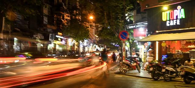 Night streets of Hanoi