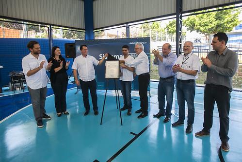 Inauguração da quadra Poliesportiva  do Colégio Sesi Umuarama