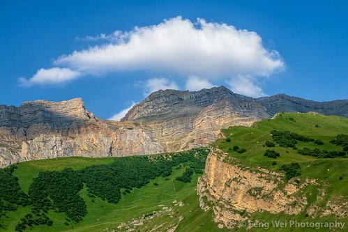 traveldestinations landscape asia azerbaijan colorimage eurasia beautyinnature remote cloud tourism caucasus outdoors laza scenicsnature horizontal travel mountain qusar