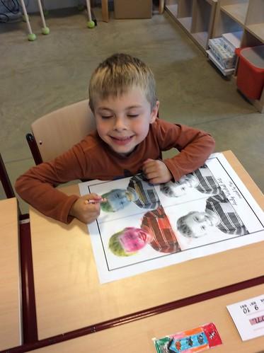 1e Leerjaar: Werken met pastel , Kunstenaar Andy Warhol
