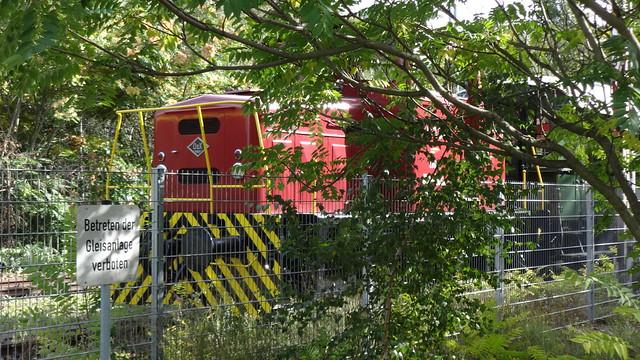 1967 dieselhyraulische Rangierlok MB10N von Orenstein & Koppel/Lübecker Maschinenbau AG Werk-Nr. 26625 Park am Gleisdreieck in 10965 Berlin-Schöneberg