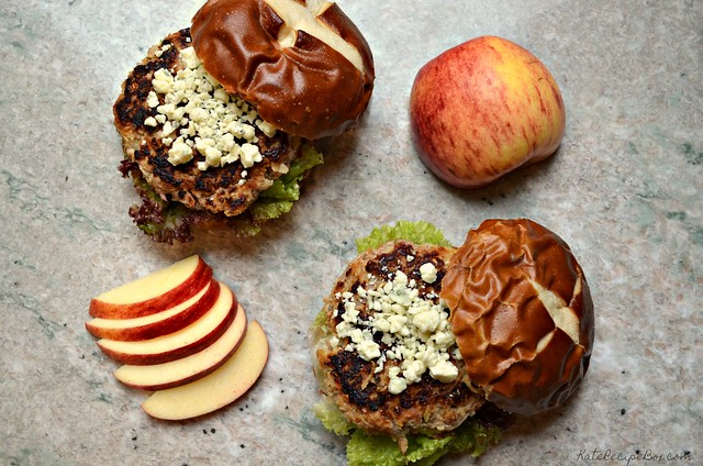 Pork and Apple Burgers 4