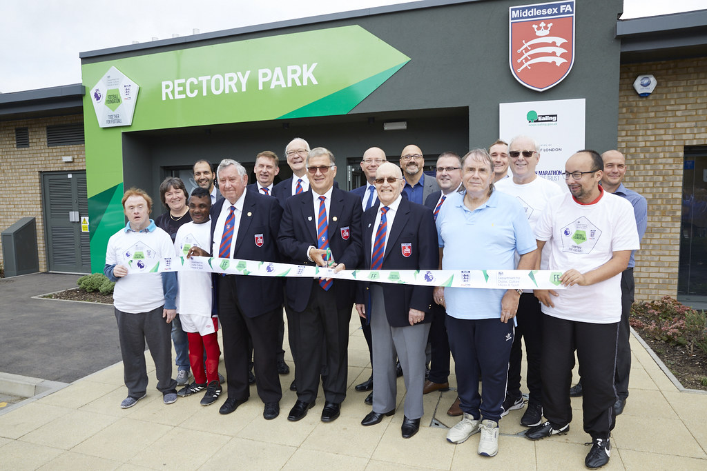 Mark Clemmit Joins Middlesex FA's First Anniversary Celebration of New Facilities at Rectory Park