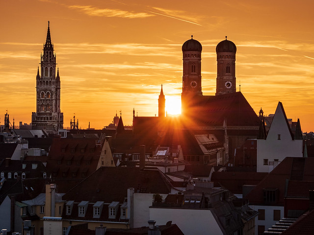Sunset in Munich