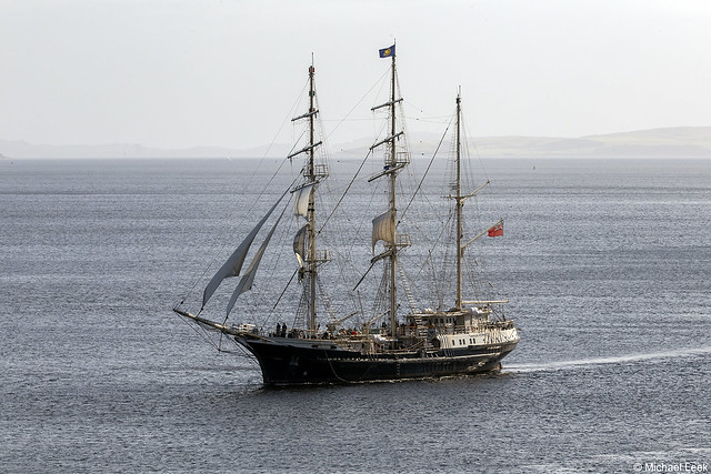 The Jubilee Sailing Trust's barque Tenacious; Firth of Clyde, Scotland
