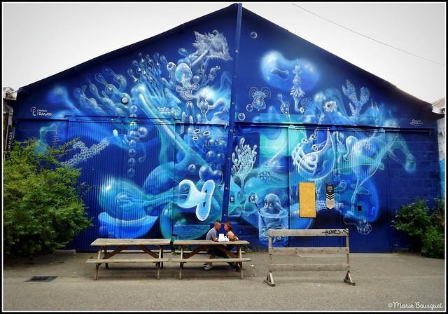 Hangar du monde sous-marin dans l'Espace Darwin de Bordeaux