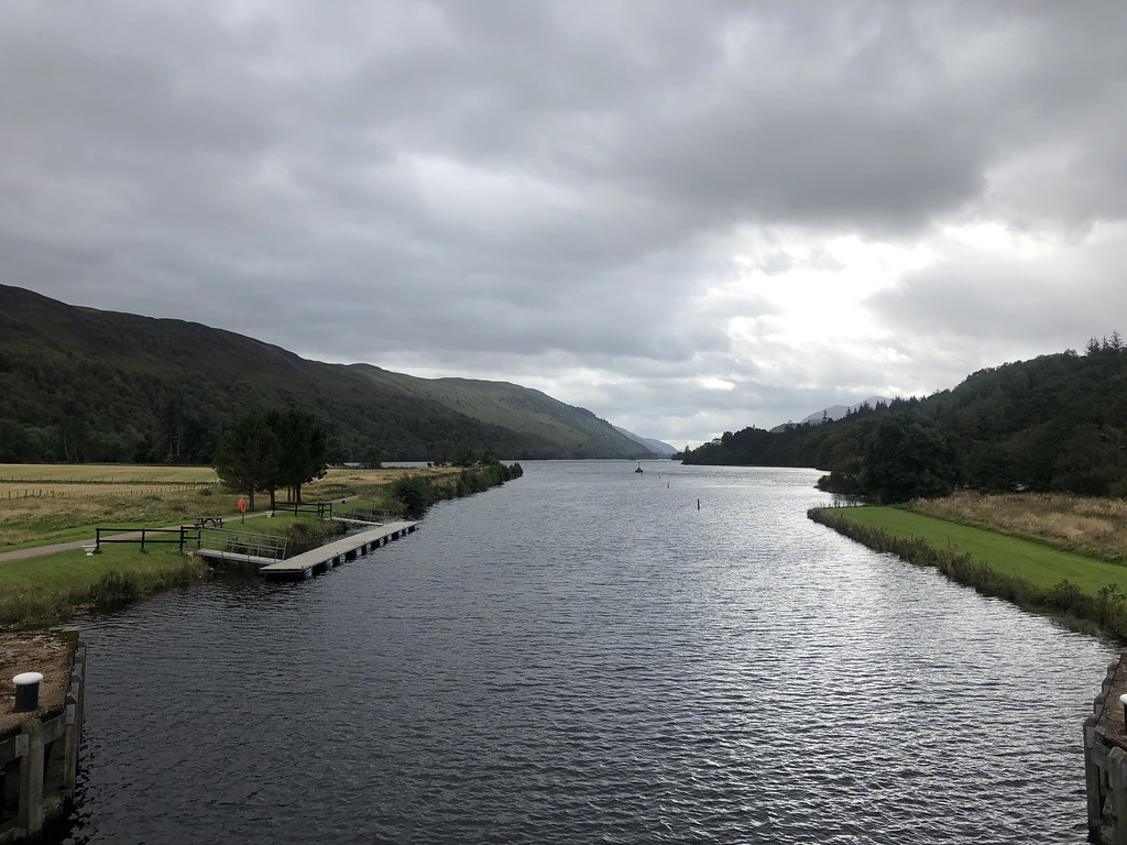 Caledonian canal entering Loch Oich