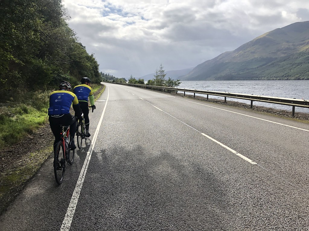 Riding alongside Loch Lochy