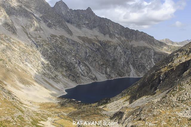 Lago de Cap de Long.Ruta: Pic d'Estaragne (3.006 m.), Pic de Campbieil (3.173 m.) y Pic de Lentilla (3.157 m.)