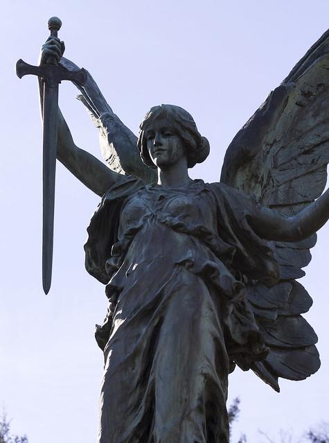 Langholm war memorial, Buccleuch Park, Dumfries and Galloway, Scotland, UK