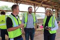Rep. Davis invited legislators from across the state to tour Oakridge Dairy Farm in Ellington