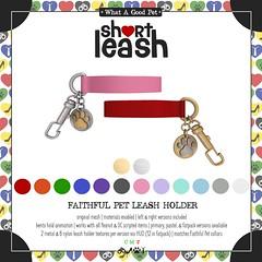 .:Short Leash:. Faithful Pet Leash Holder