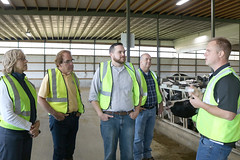 Rep. Davis invited legislators from across the state to tour Oakridge Dairy Farm in Ellington