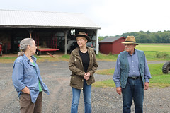 Rural and Agricultural Caucus Members Reps. Zawistowski and Simanski toured Hastings Farm in Suffield
