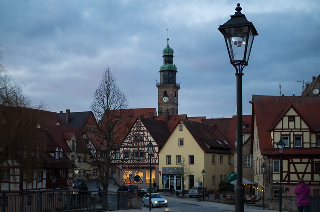 Sechs Straßenlaternen in der Dämmerung (Six Street Lamps At Dusk) | Lauf an der Pegnitz | IMGP9759