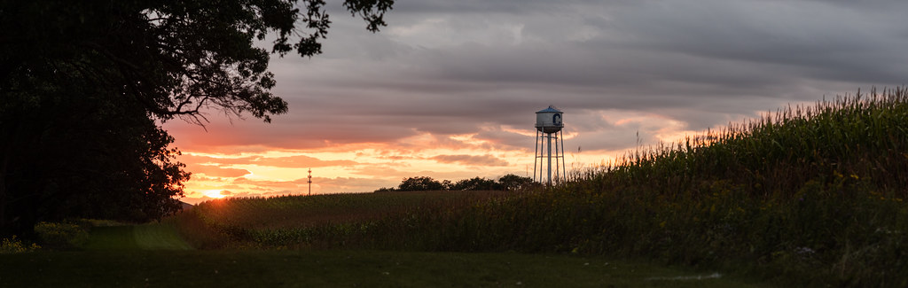 Sunset over the Water Tower