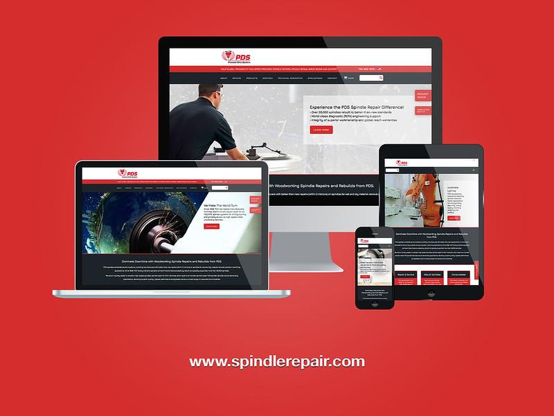 PDS Spindle Repair Wood Responsive Website