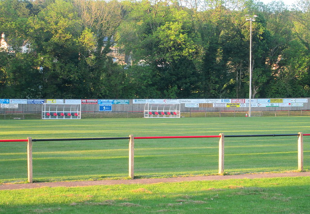 Pitch and Dugouts, Islecroft Stadium, Dalbeattie