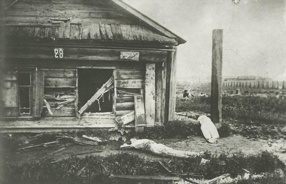 27. Последствия обстрелов города частями Красной армии