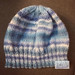 Shades of Blue Slouchy Hat, Flat