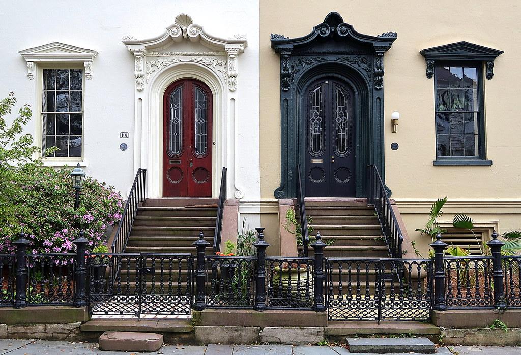 The great divide, 101-103 Bull Street (1853), Charleston, SC