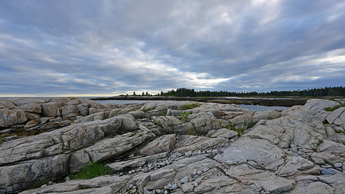 maine september acadianationalpark acadia seascape seacoast coast ocean atlantic clouds sunset littlemooseisland granite flowers rocky rocks cloud