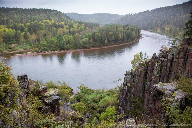 Устье реки Ук / Ukowski waterfall and river Uk /  5760