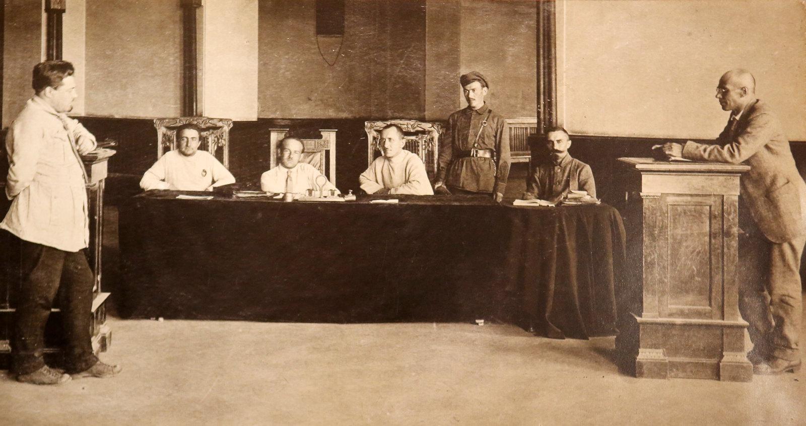 36. Выездная сессия Верховного трибунала ВЦИК в городском театре Ярославля. 1922